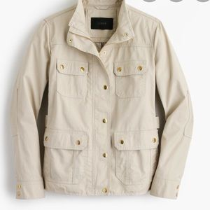 J.Crew cream downtown field jacket XXS